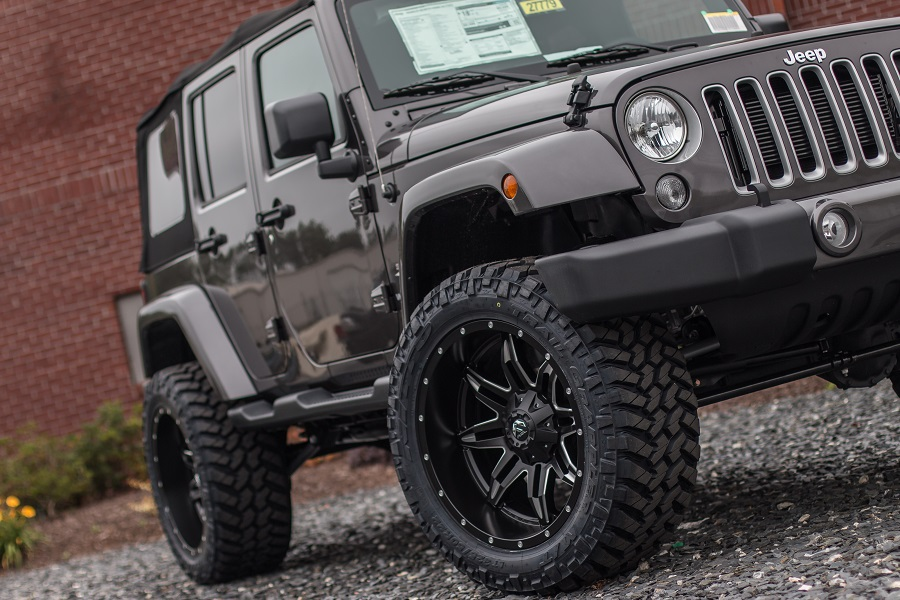 Custom Lifted Jeep - 20X10 Black Aluminum Wheels